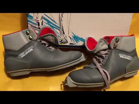 Salomon SR 301 Cross Country Ski Boots 1980s 80s Then 80s Now