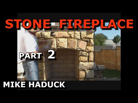 How I build a stone fireplace (part 2 of 3) Mike Haduck