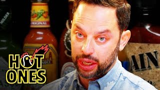 Nick Kroll Delivers a PSA While Eating Spicy Wings   Hot Ones
