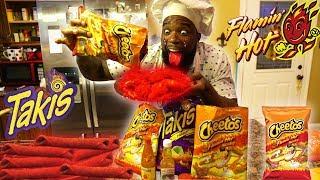 Download FLAMIN HOT CHEETOS & HOT TAKIS FRIED CHICKEN WINGS! COOKING DIY Video