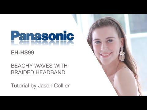 Hair tutorials by Jason Collier using the Panasonic EH-HS99 BEACHY WAVES