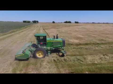 cutting hay in a Nebraska meadow