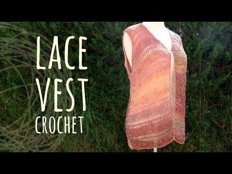 Tutorial Lace Vest Easy Crochet