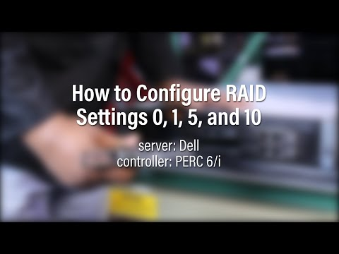 How to Configure RAID on a Dell using a PERC 6/i