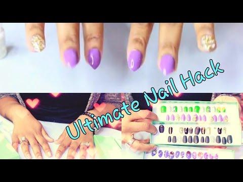 BEST DIY EASY Fake Nails That Last THREE WEEKS! (No Acrylic)  ♡ ☆