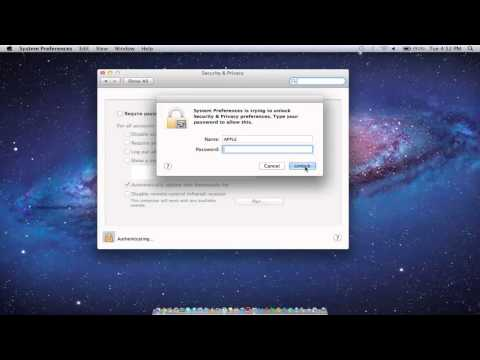 How to set password on mac