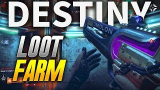 Destiny 2: LOOT FARMING WITH EXOTIC WEAPONS! (Destiny 2 PS4 BETA)