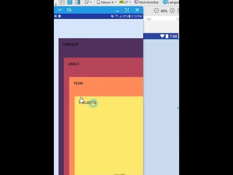 Cool Menu Dashboard Design Android Material Design Tutorial