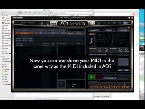How to add external MIDI in Addictive Drums 2