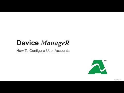 AVTECH Device ManageR: How To Configure User Accounts