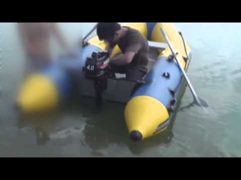 How to operate inflatable boat and outboard motor
