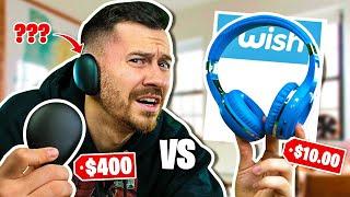 $400 Human Headphones VS. $10 Wish Headphones (WISH Knock Offs Vs. Real Headphones)