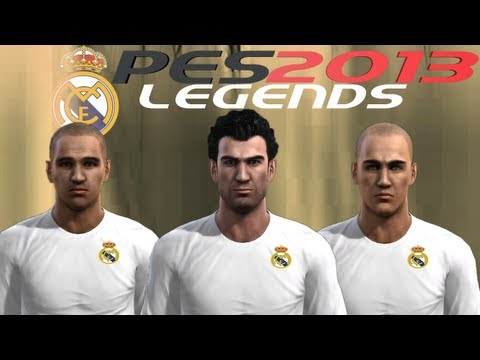PES 2013 How to Create Real Madrid Legends - Galacticos