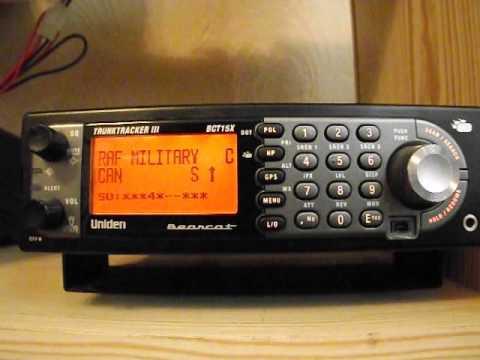 Scanning UHF Military Band UK - Uniden BCT15X