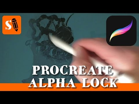 Procreate iPad Pro How to Use Alpha Lock to Paint Shadows