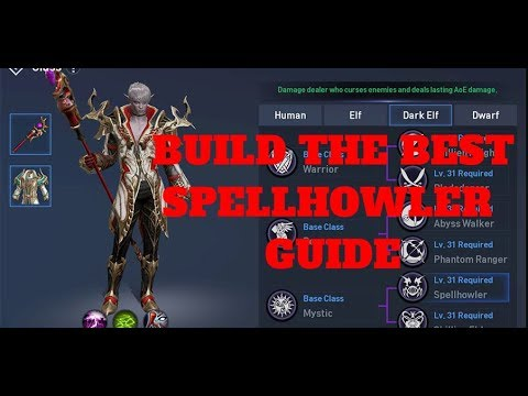 Lineage 2: Revolution - How to Build the Best Dark Elf SpellHowler Skill Guide