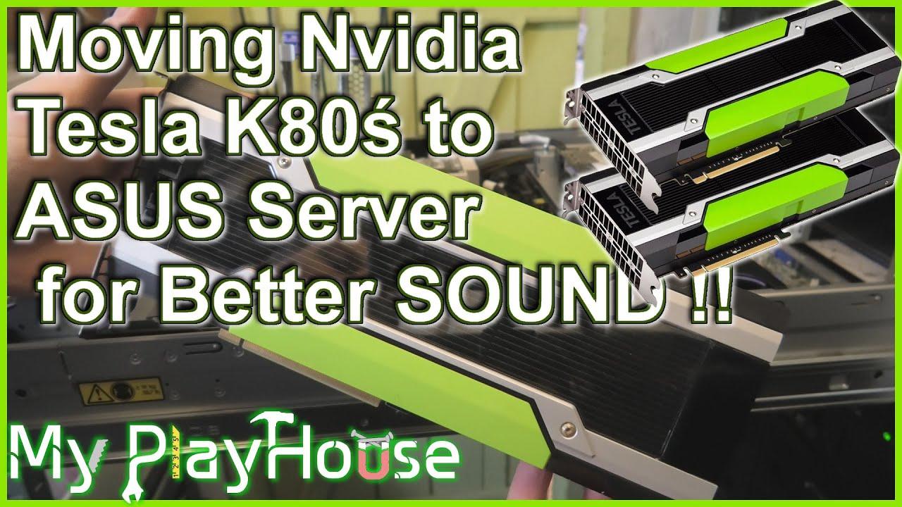 Two Nvidia Tesla K80 in ASUS ESC 4000 G2 Rack Server - 1049