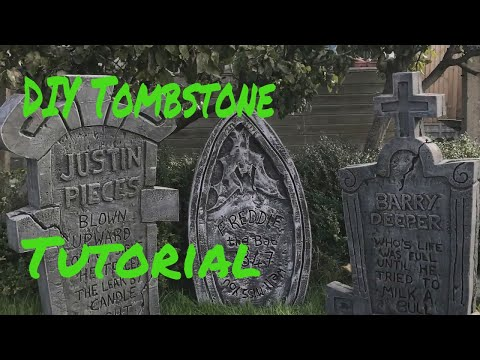 Halloween Maker DIY Tombstone Prop How To Make Your Own