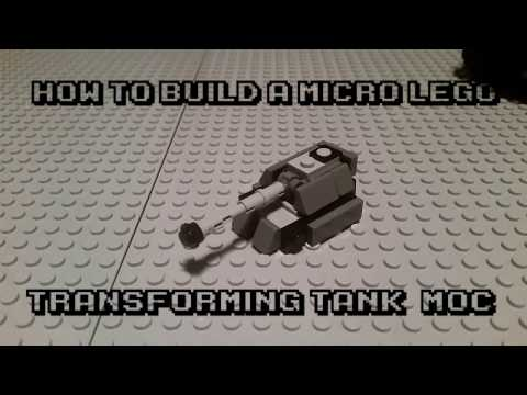 How to Make a Build a Micro Lego Transforming Maus tank! (MoC)
