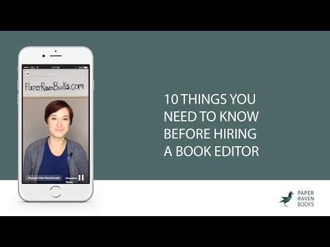 10 things you need to know before hiring a book editor