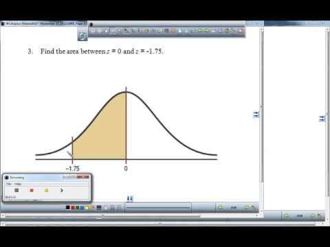 Find the area under the standard normal curve 1
