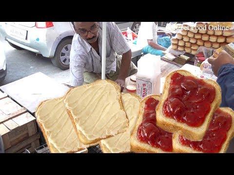 Butter Jelly Bread Toast | Street Food at Kolkata Street | Best Way to  Breakfast in Indian street