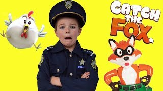 Catch the Fox Unboxing with funny silly kids featuring Dad Holiday fun