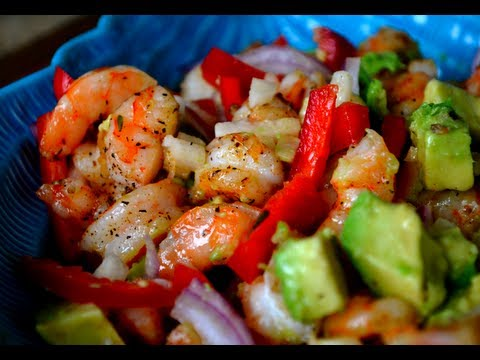 Shrimp & Avocado Salad (w/ Lime Vinaigrette)
