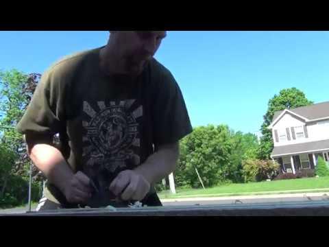 Hand Planing Wood Butcher Block Desktop