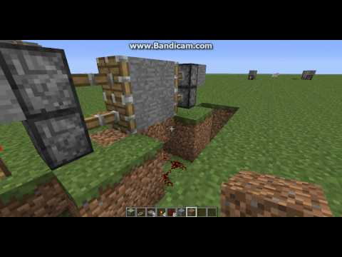 how to make a simple redstone door with pressure plates