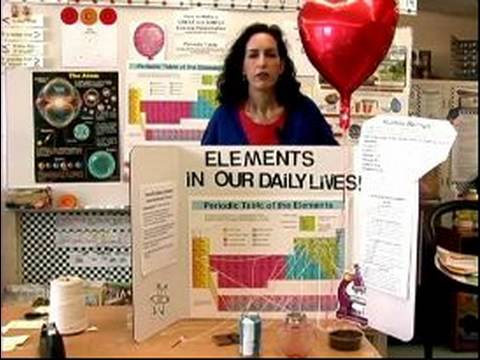 How to Make a Periodic Table Science Presentation : Science Fair Presentation Board