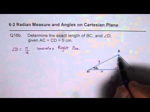 Q16b Solve Using Special Triangles in Radian Measure