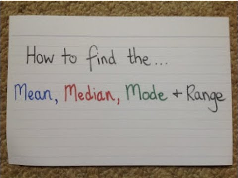 Teaching Idea #19 How to Find the Average Mean, Median, Mode and Range Maths Video Tips Guide