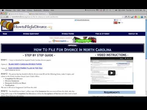 Free North Carolina Divorce Papers