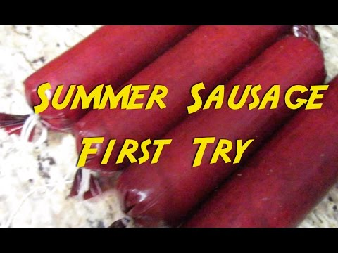 First Try at Summer Sausage