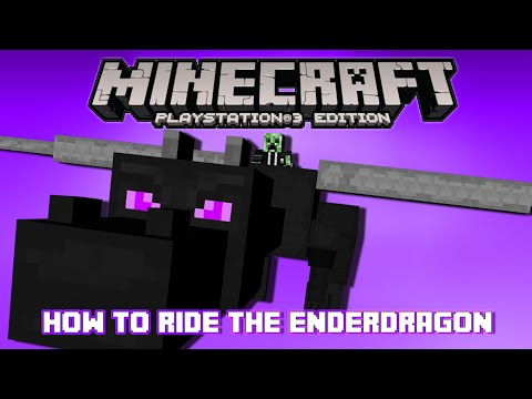 PS3/PS4 Minecraft How to Ride the Ender Dragon