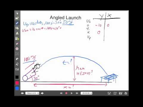 Projectile Motion Angled Launch