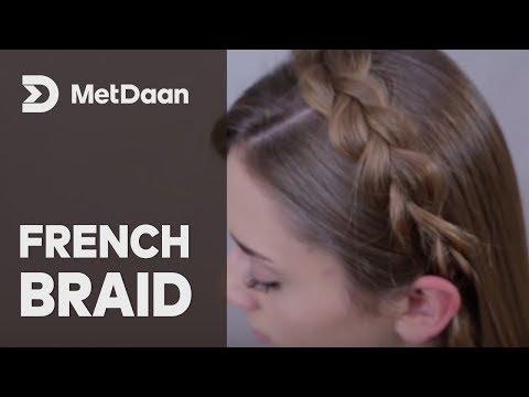 French Braid and messy bun