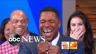 Gma Hot List Michael Strahan S First Day Full Time