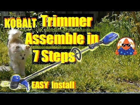 Kobalt 40V WEEDWACKER Cordless String Trimmer Assemble in 7 EASY Steps!