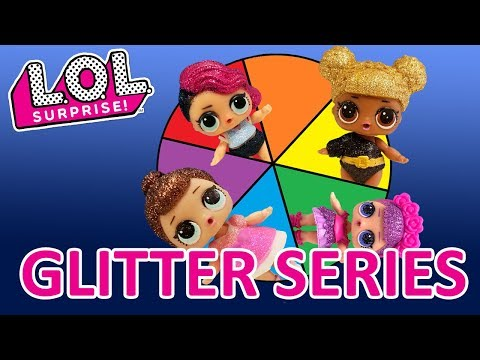 Spin the Wheel LOL Surprise Doll Glitter Series Game! Kinder Egg, Shopkins, and Make Glitter Slime!