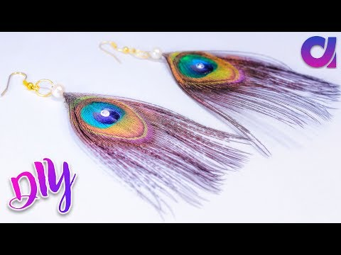 diy ideas | how to make peacock earrings in just 1 minutes | Artkala 232