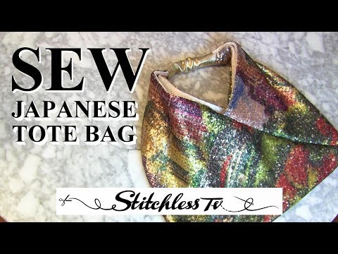 How to Sew a Sequin Japanese Tote Bag sewing tutorial