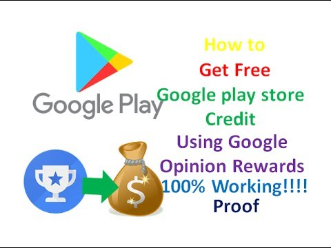 How to get free Google play Credit with Google opinion rewards 100% working with proof