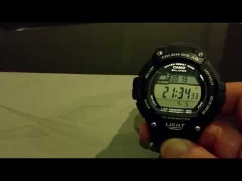 How To Change the time on a Casio WS220 watch