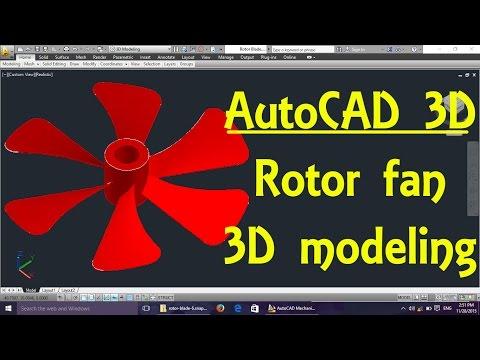 Rotor fan AutoCAD 3D modeling tutorial   AutoCAD 3D Modeling 11