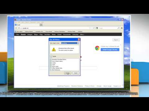 How to clear Mozilla® Firefox form and search history in Windows® XP