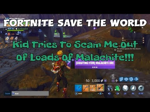 16a) Fortnite Save The World Kid Tries To Scam Me Out Of Loads Of Malachite!!!