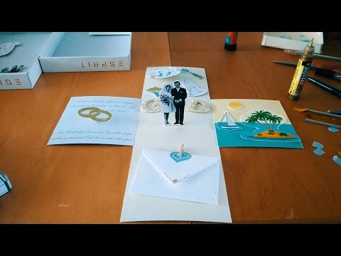 DIY: Wedding invitation boxes a short assembling summary