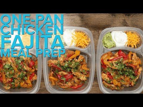 One - Pan Chicken Fajitas Meal Prep